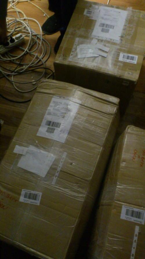 3 Pakete sind bei Lilia angekommen 8.01.15